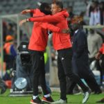 Rulani Mokwena assistant coach of Orlando Pirates and head coach Milutin 'Micho' Sredojevic