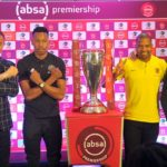 Milutin Sredojevic, head coach and Happy Jele of Orlando Pirates, Itumeleng Khune of Kaizer Chiefs and coach Giovanni Solinas