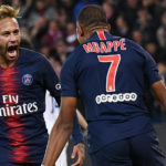 Kylian Mbappe and Neymar of Paris Saint-Germain