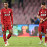 Georginio Wijnaldum and Roberto Firmino of Liverpool
