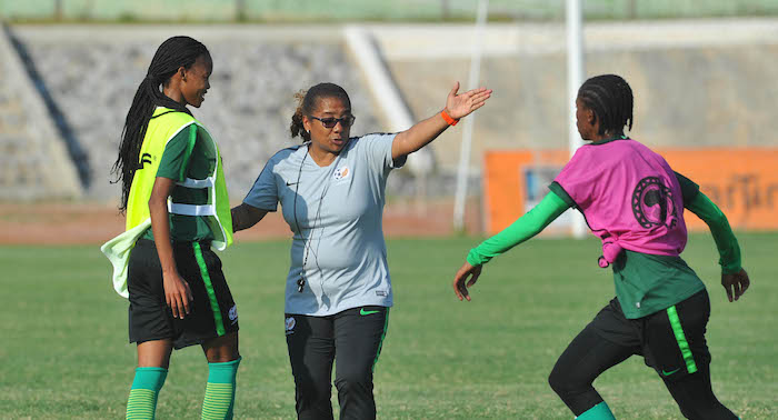 Desiree Ellis head coach of South Africa during the 2018 South Africa Training on the 16 November 2018 at Nduom Sports Stadium, Ghana / Pic Sydney Mahlangu/BackpagePix