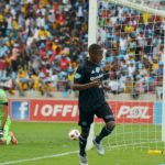 Thembinkosi Lorch of Orlando Pirates and Itumeleng Khune of Kaizer Chiefs