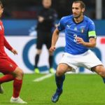 Bernardo Silva of Portugal and Giorgio Chiellini of Italy