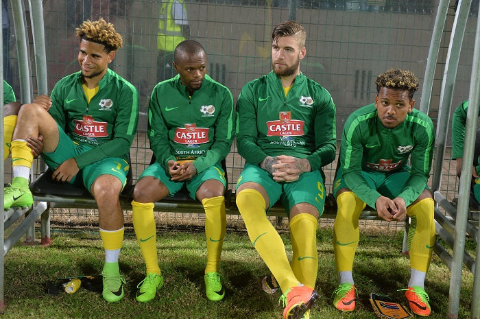 Thulani Serero and Bafana teammates