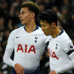 Dele Alli and Son Heung-Min of Tottenham Hotspur