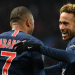 Neymar and Kylian Mbappe of Paris Saint-Germain