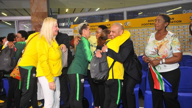 Banyana arrive home to heroes' welcome