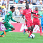 Goodman Mosele of Baroka FC and Augustine Mulenga of Orlando Pirates during the Absa Premiership 2018/19 game between Baroka FC and Orlando Pirates at Peter Mokaba Stadium in Polokwane the on 22 September 2018 © Kabelo Leputu/BackpagePix