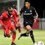 Vincent Pule from Orlando Pirates and Makhehleni Makhaula from FS Stars